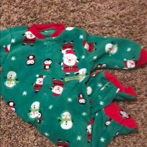 Carter's button up fleece Christmas jammies